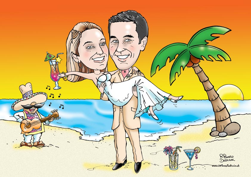 Wedding Day Caricatures Cartoons Strip And Humorous Illustration